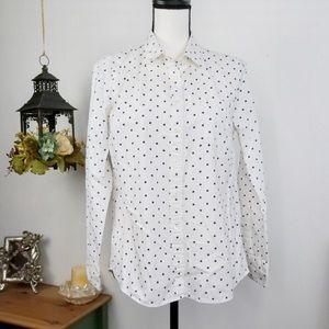 J.Crew Button Down Shirt Polka Dot Print Boy Fit